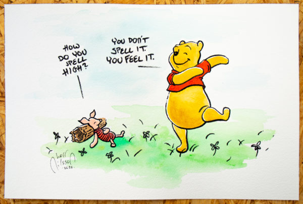 Painting of Piglet and Winnie the Pooh