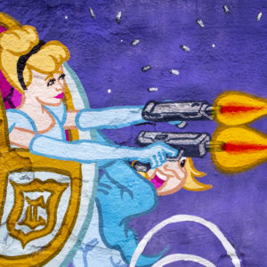 Close up Gicleé print - Cinderella Drive by